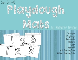 Playdough Mat Numbers 1-10