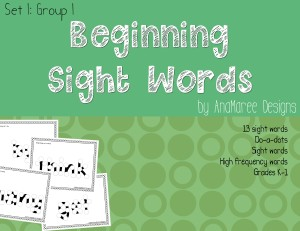 sight words set 1 group 1