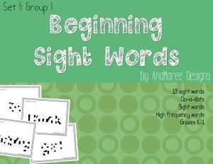 sight words set 1 group 1